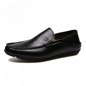 中国•承发男士真皮英伦豆豆鞋 黑色