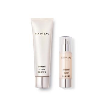 美国•玫琳凯(Mary Kay)混合性至油性肌肤套装(洁面乳127g+保湿乳50ml)
