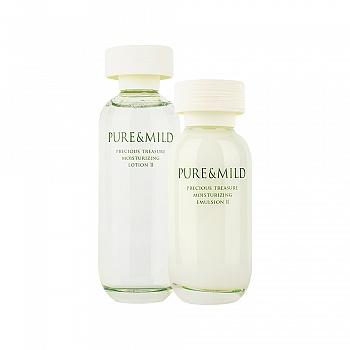 泊美(PURE&MILD)鲜纯珍萃保湿2件组(保湿水滋润型150ml+保湿乳液滋润型120ml)