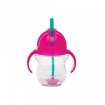 美国•munchkin 满趣健 幼儿7盎司click lock 翻斗杯(适合六个月以上宝宝使用)烟粉色