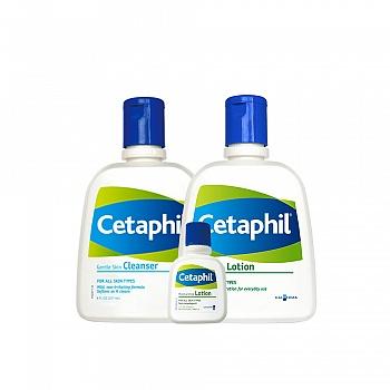 丝塔芙(Cetaphil)洁肤温和滋润套装(洁面乳237ml+保湿润肤乳237ml+润肤乳29ml)