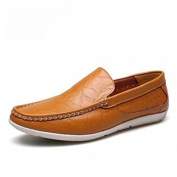 中国•男士真皮英伦豆豆鞋 26102黄棕色