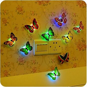 中国•3个装饰蝴蝶灯宝宝床头灯小夜灯