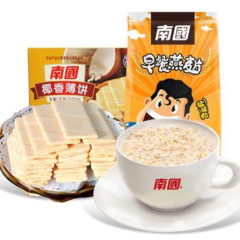 南国纯麦片薄饼早餐组合1160g