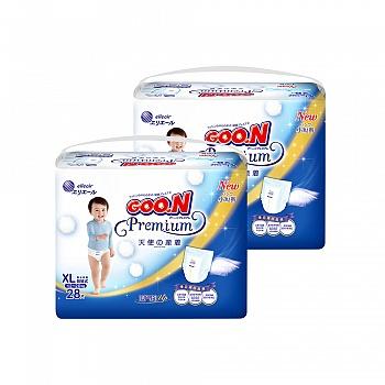 日本•GOO.N® 大王 短裤式纸尿裤 天使系列XL28片*2包装