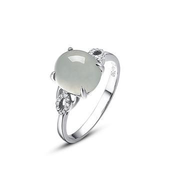 今上珠宝 18k金翡翠戒指