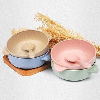 亿珊小麦秸秆碗勺套装*2套装