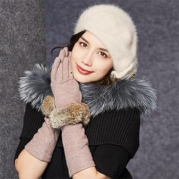 kenmont冬女士保暖触屏时尚手套2811