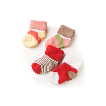 叮当小猪冬季毛圈童袜棉质翻遍袜