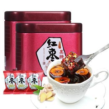 四月茶侬 红枣黑糖姜茶200g ×2罐