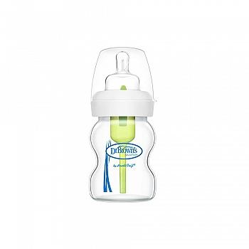 美国?布朗博士爱宝选5oz玻璃宽口婴儿奶瓶 WB5120-CH