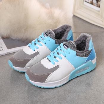 娅莱娅韩版潮运动鞋女鞋平底鞋蓝