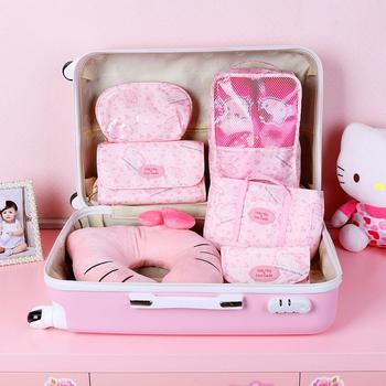 Hello Kitty 旅行便携式收纳包袋五件套