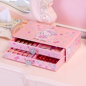 HELLO KITTY双层平面化妆品收纳盒