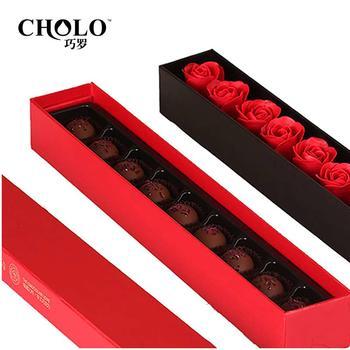 巧罗纯可可脂玫瑰之约巧克力礼物