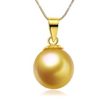 今上珠宝 18K金海水金珍珠吊坠