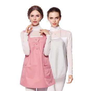婧麒孕妇装防辐射服夏款套装粉色