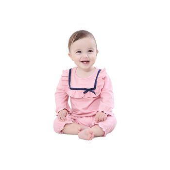 Cipango 婴儿领口?#30475;?#38271;袖连体衣服