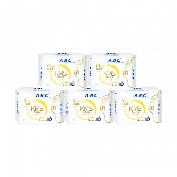 中国•ABC日用轻透薄棉柔表层卫生巾8片*5包