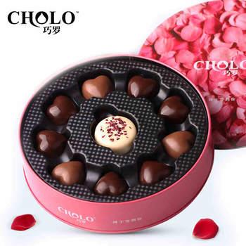 巧罗美满良缘纯可可脂黑巧克力