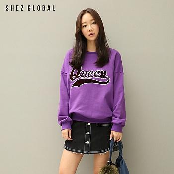 中国•韩版SZ春新款宽松套头长袖卫衣女