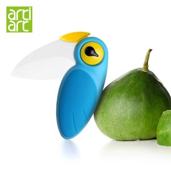 台湾Artiart 创意小鸟刀 折叠陶瓷刀