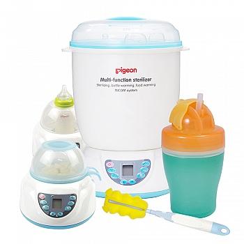 贝亲多功能蒸汽消毒器(促销装)送海绵奶瓶刷 双层吸管杯
