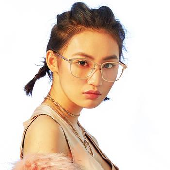 音米时尚圆形眼镜框女潮精选镜框