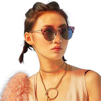 音米时尚复古半框偏光墨镜