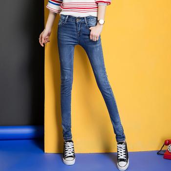 中国•女装牛仔休闲长裤W6112潮流牛仔裤