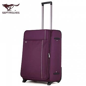 中国•拉杆箱万向轮旅行箱行李箱男女紫
