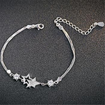 中国•E·weil s925银银饰白水晶星星闪耀