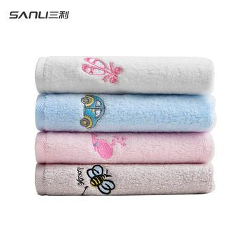 三利小毛巾4条 纯棉童巾女士毛巾