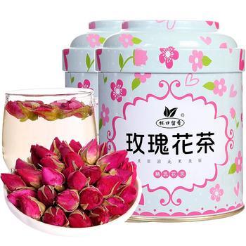 【送不锈钢勺】玫瑰花茶 50克×2罐