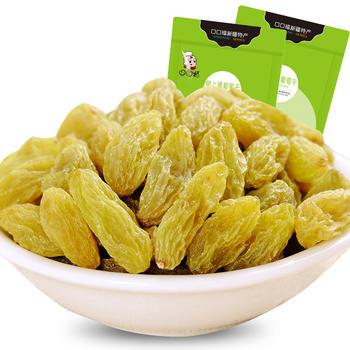口口福树上黄葡萄干250g 新货新疆特产零食 绿葡萄干