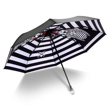 德国iRain三折伞卡通水晶水钻太阳伞