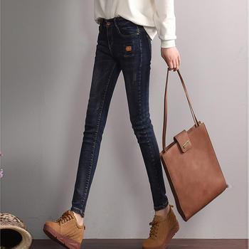 春夏季蓝黑色女士牛仔裤W1706A新款