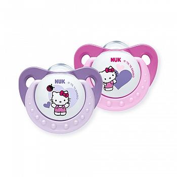 德国?NUK安睡型Hello Kitty印花硅胶安抚?#22871;歟?-18个月)