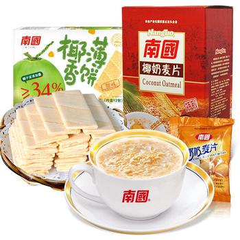 南国椰奶燕麦片薄饼早餐组合888g