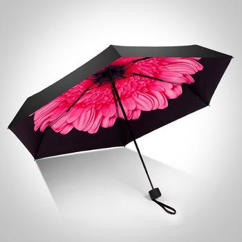 德国iRain五折伞袖珍印花太阳伞