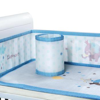 澳斯贝贝 婴儿床三明治透气床围 防撞床帏