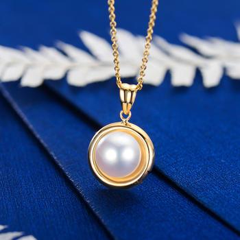 阿梵尼 18K金项链珍珠吊坠