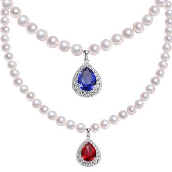 阿梵尼 淡水珍珠水滴项链