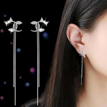 戴拉  S925銀針時尚氣質流蘇長耳環