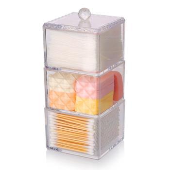 科特豪斯三层方形化妆收纳盒