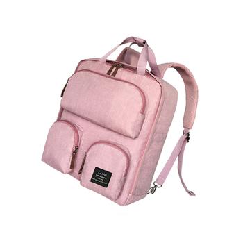 中国•兰多 贝壳款妈咪包双肩包藕粉色