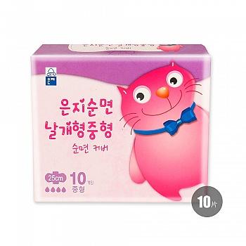 韩国•恩芝猫小菲纯棉日用卫生巾(250mm/10P)