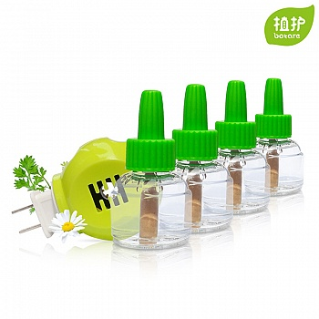 中国•植护电热蚊香液4瓶+1点液器套装