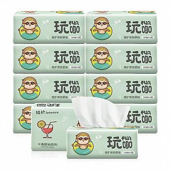 中国•植护原木居家抽纸10包 整箱装