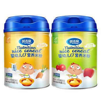 英吉利dha强化铁胡萝卜米粉450g*2罐